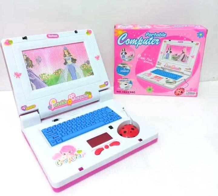 โน๊ตบุ๊ค คอมพิวเตอร์ Computer Notebook ของเล่นเด็ก แท็ปเลต ภาพเลื่อน มีเสียงเพลง มีไฟ  มีภาพ เลื่อนได้ สวยงาม เด็ก ๆ ชอบ แน่นอน ราคาถูก.
