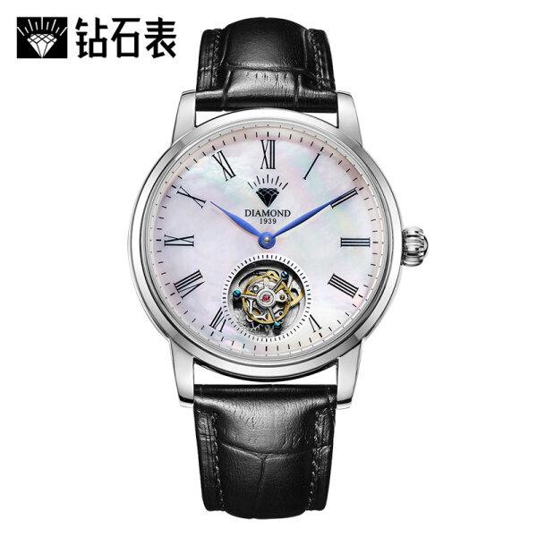 Shanghai Diamond Watch Womens Mechanical Watch Mens Automatic Authentic National Watch Waterproof Fashion Watch Mens Hollow Tourbillon Malaysia