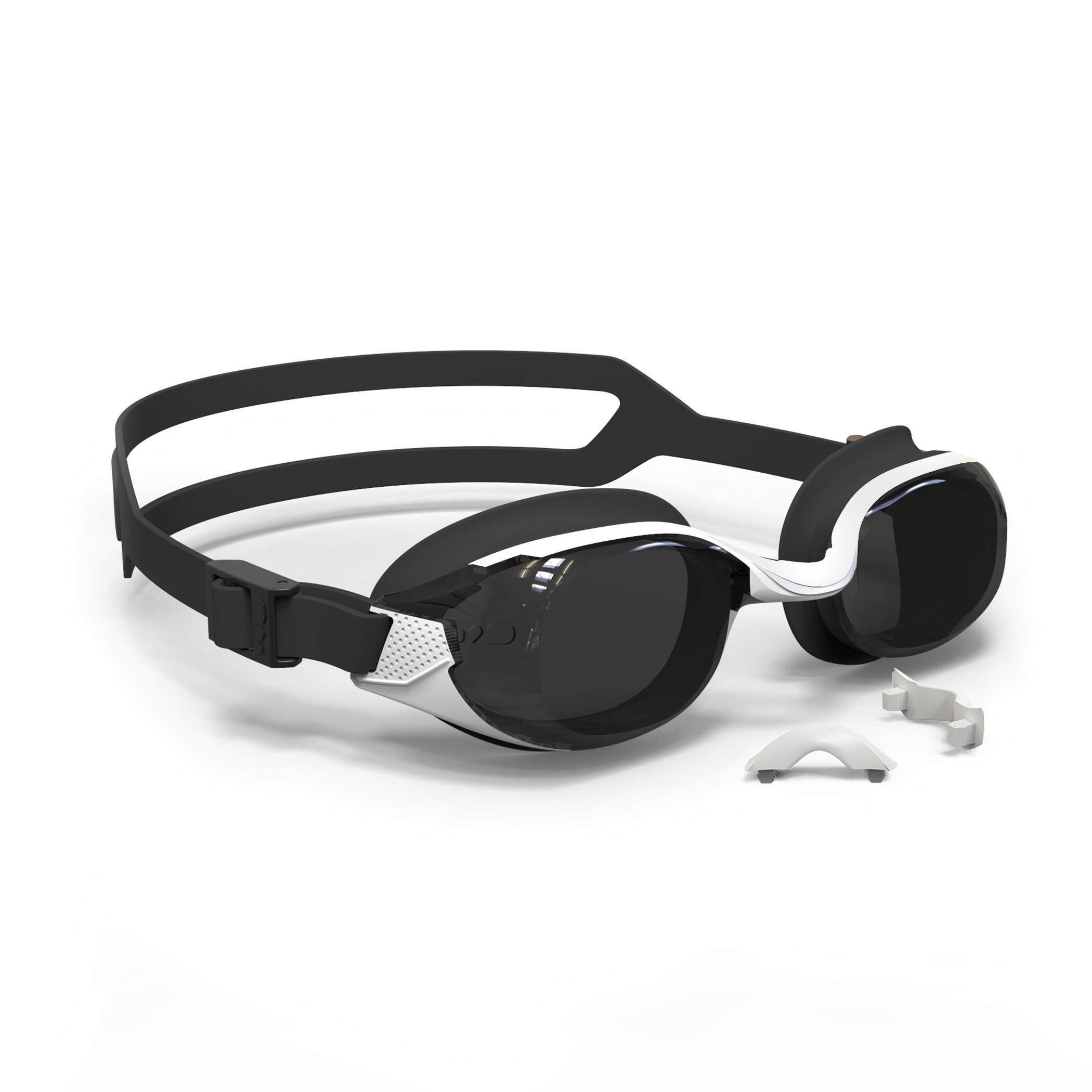 [ด่วน!! โปรโมชั่นมีจำนวนจำกัด] แว่นตาว่ายน้ำรุ่น 500 B-FIT (สีขาว/ดำ เลนส์สีเทา SMOKE) สำหรับ ว่ายน้ำ