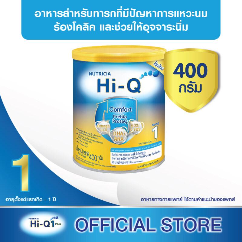 โปรโมชั่น นมผง Hi-Q Comfort Step 1 ไฮคิว คอมฟอร์ท พรีไบโอโพรเทก Hi-Q Comfort 400กรัม (นมสูตรเฉพาะ ช่วงวัยที่ 1)