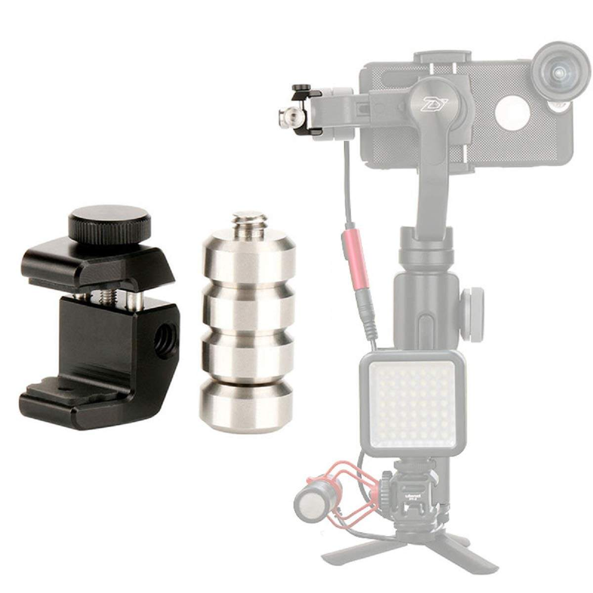Ulanzi Pt-4 Universal Gimbal Counterweight สำหรับ Dji Osmo มือถือ 2/ชินยุนราบรื่น 4/smooth Q/feiyu Vimble 2/evo /moza Mini Mi Stabilizer อื่นๆ 3 - ขาตั้งยึดสำหรับกันสั่นสำหรับ Balancing Moment Anamorphic Lens, 60g Counter น้ำหนัก.
