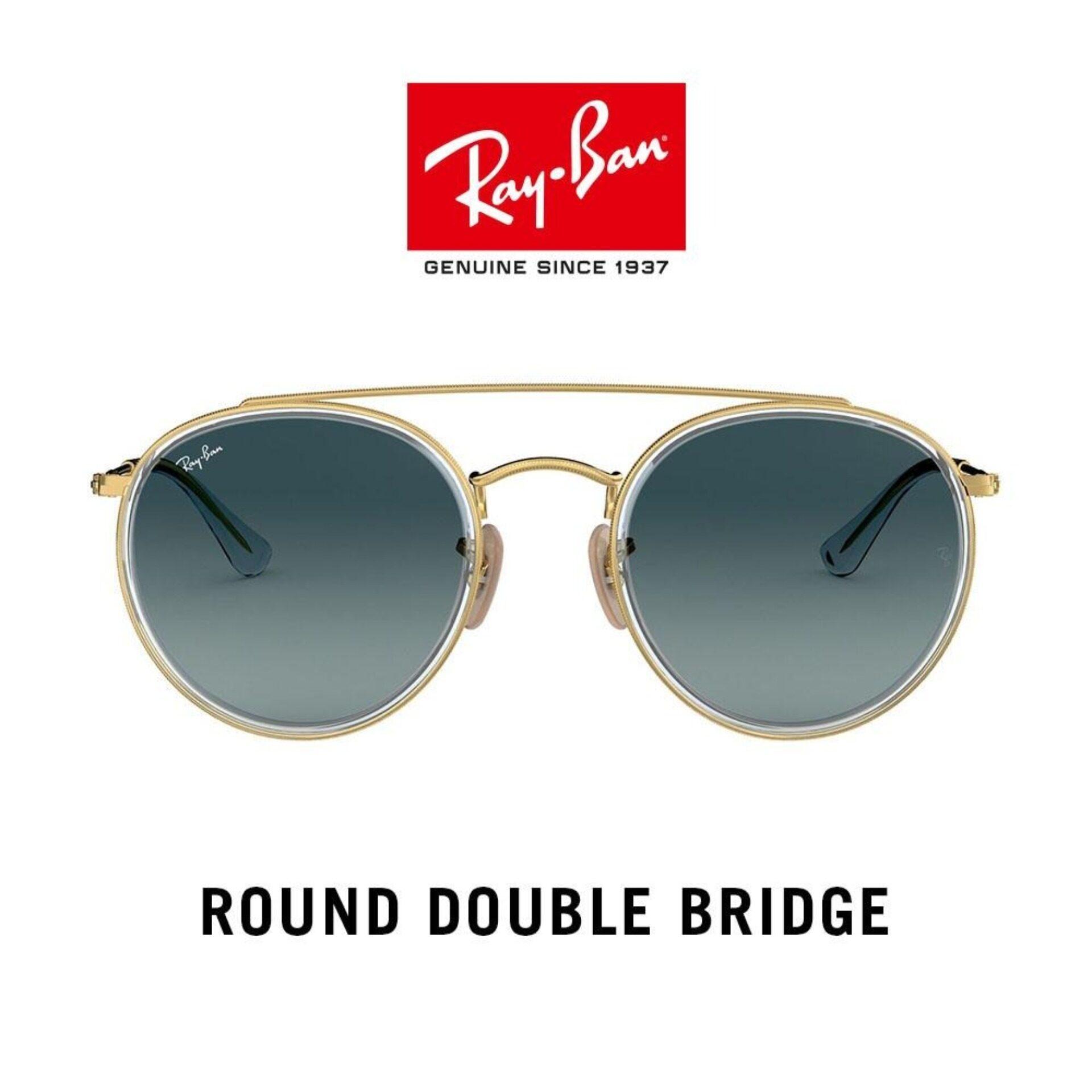 Ray-Ban Round Double Bridge - Rb3647n 91233m  แว่นตากันแดด.