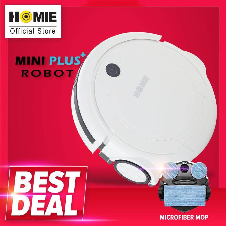 HOMIE หุ่นยนต์ดูดฝุ่น รุ่น Mini Plus พร้อมผ้าถูไมโครไฟเบอร์ หาซื้อได้ที่ไหน