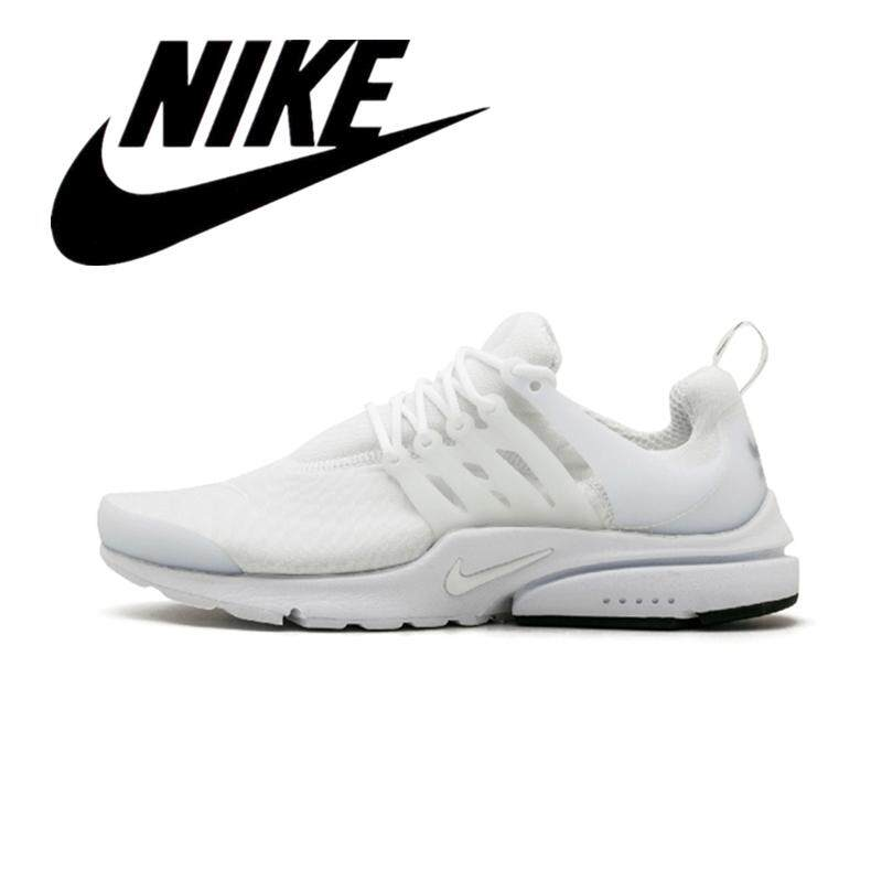 new concept 6c649 26598 NIKE air PRESTO men s shoes breathable padded lace casual shoes comfortable  walking shoes running sneakers Wear resistant White 848187