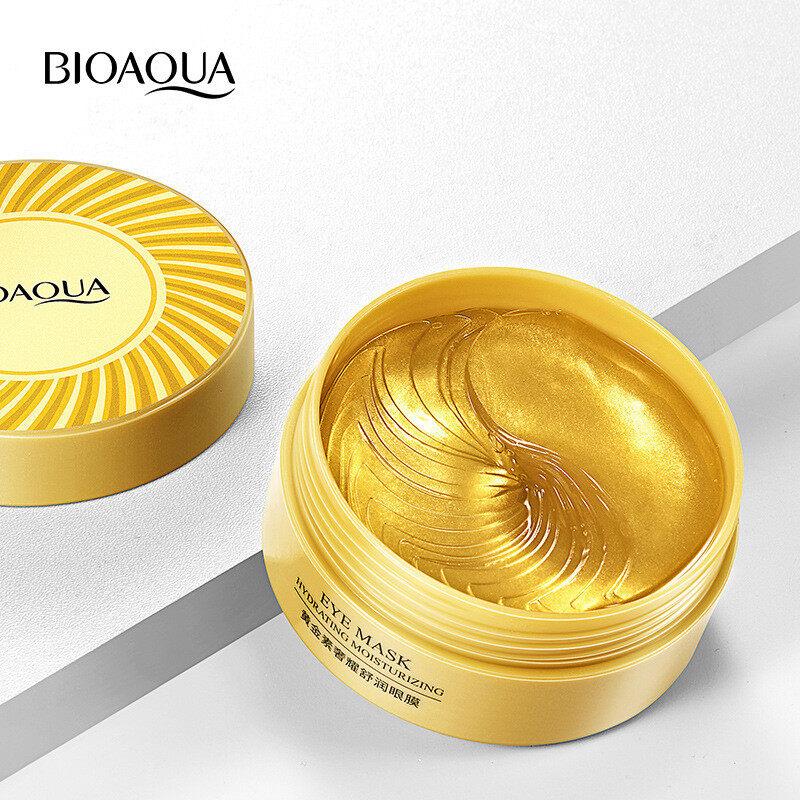 Bioaquaมาร์คใต้ตามาส์กใต้ตามาคใต้ตา30คู่ Gold Mask คอลลาเจน ลดอาการบวมถุงตา ต่อต้านริ้วรอยกระชับดูแลผิว Eye Mask-5015.