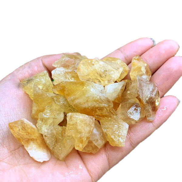 SNSQDYW0010 50g Geography Teaching Sample Home Decoration Raw Gemstone Natural Citrine Ore Mineral Specimen Healing Stone Brazil Yellow Crystal Malaysia