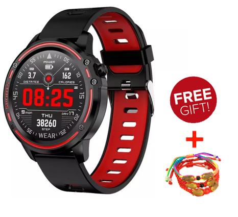 Smartwatchสายรัดข้อมือนาฬิกาตรวจสอบอัตราการเต้นของหัวใจนาฬิกาบลูทู ธl8 โทรออกด้วยเสียงนาฬิการับข้อมูล Iphone/huawei/oppo/xiaomi ทั่วไป.