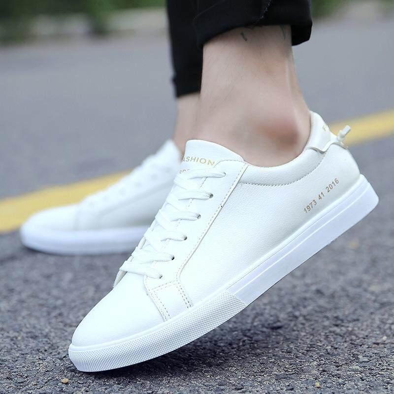 D.รองเท้าหนังผู้ชาย  รองเท้าส้นแบน สไตล์เกาหลี รองเท้าสำหรับผู้ชาย สุขสบาย รองเท้าลำลอง