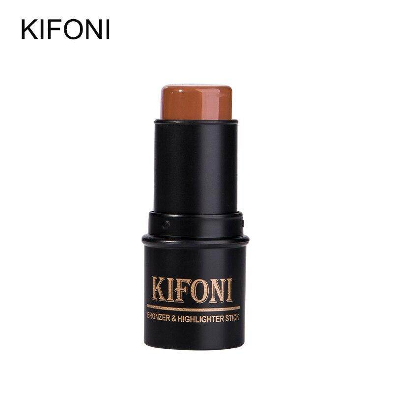 Kifoni บรอนเซอร์&ไฮไลท์ 3d คอนทัวร์ แบบแท่ง กันน้ำ ไม่มัน ไม่เปรอะเปื้อน มี8โทนสีให้เลือก Kifoni Makup Bronzer&highlighter Stick 8 Colors 3d Contour Makeup Concealer Pen Face Waterproof Glow Brighten Stick Cosmetic Kf-07.