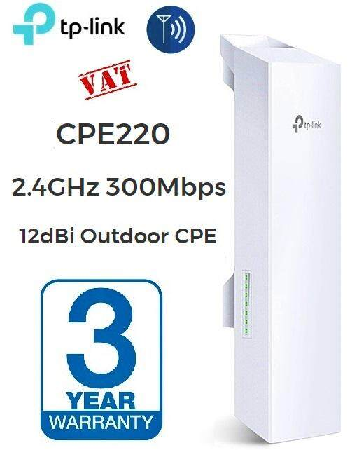 Tp-Link Access Point (แอคเซสพอยต์) 2.4ghz 300mbps 12dbi Outdoor Cpe(cpe220) - ประกัน 3 ปี.