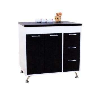 Adhome ตู้เคาน์เตอร์ครัว ขนาด 80 ซม. รุ่น K-80 (สีขาวกราไฟต์)