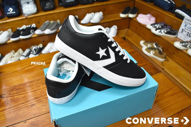 f16dfcd4777f converse point star ox leather black หนัง  ลิขสิทธิ์แท้