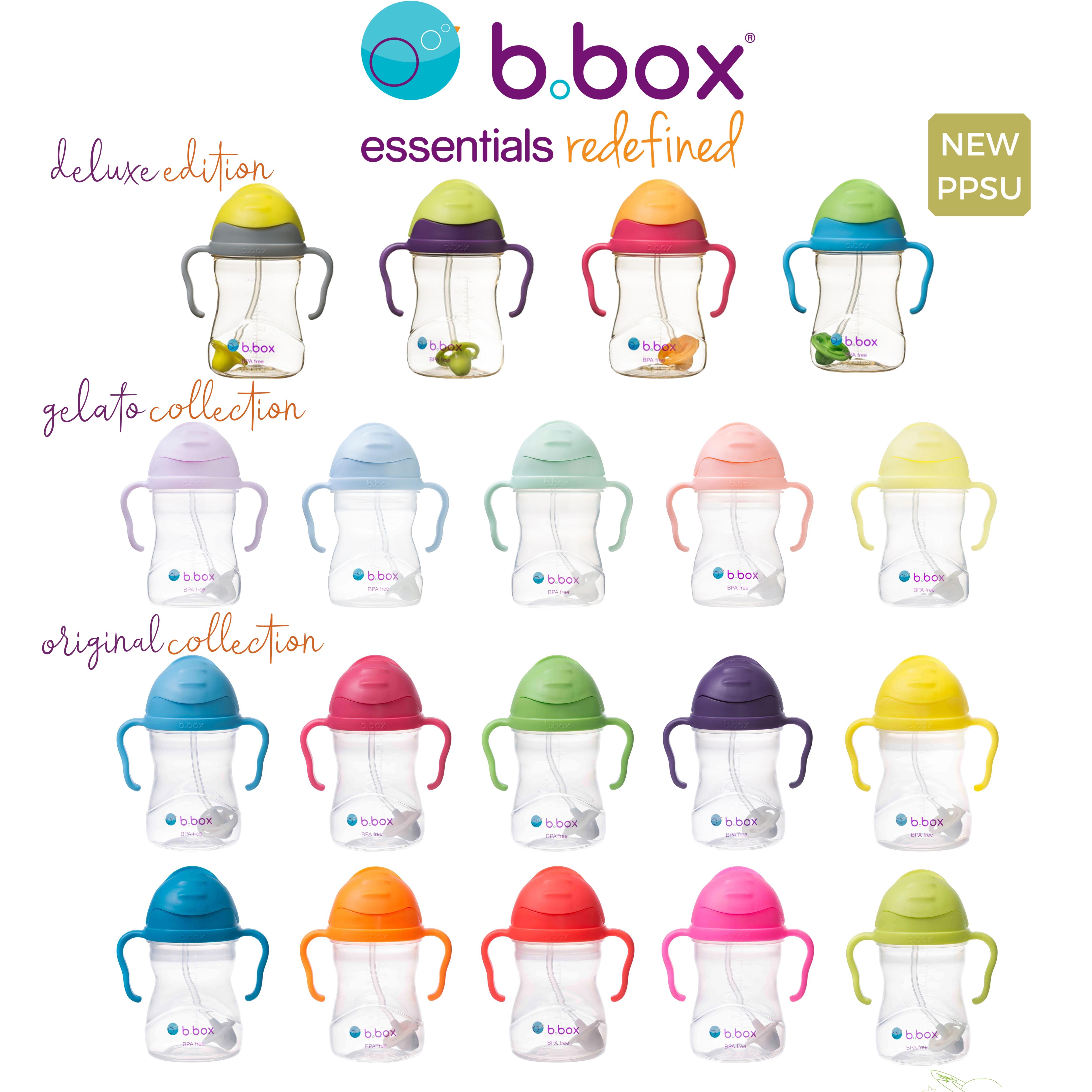 โปรโมชั่น b.box sippy cup บี บ็อกซ์ แก้วหัดดื่ม BPA free ถ้วยหัดดื่ม กันย้อน กันสำลัก กันหก นวัตกรรมตุ้มถ่วงปลายหลอดจะกลิ้งตามของเหลวขณะดื่ม ดื่มได้ทุกอริยาบท ขนาด 8 ออนซ์ bbox b box บีบ็อกซ์