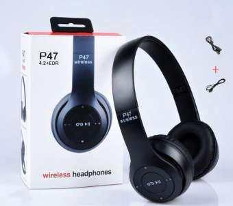 Etimes หูฟังบลูทูธ ไร้สาย P47 Bluetooth Headphone Stereo ใส่เมมได้ คุยโรทศัพท์ รับสายสนทนา