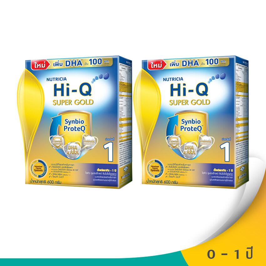 รีวิว Hi-Q ไฮคิว นมผงสำหรับเด็ก ช่วงวัยที่ 1 ซูเปอร์โกลด์ SYNBIO PROTEQ รสจืด 600 กรัม (แพ็ค 2 กล่อง)