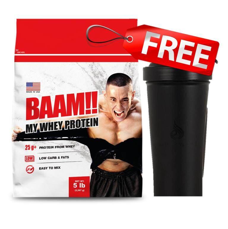 Baam 100% My Whey 5 Lb Vanilla Free Shaker.