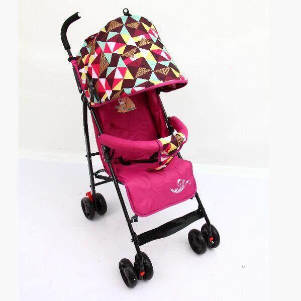 รถเข็นเด็ก ปรับได้ 3 ระดับ น้ำหนักเบา รองรับหนัก (นั่ง/เอน/นอน) ฟรีมุ้งคร้า baby stroller รุ่น 222#