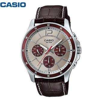 Casio นาฬิกาข้อมือ สายหนัง รุ่น MTP-1374L-7A1V-
