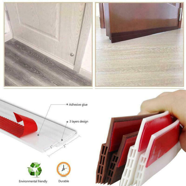 QIANGDI 1pc New Door Bottom Window Tape Sound Insulation Weather Stripping Sealing Strip Draught Excluder Wind Stopper