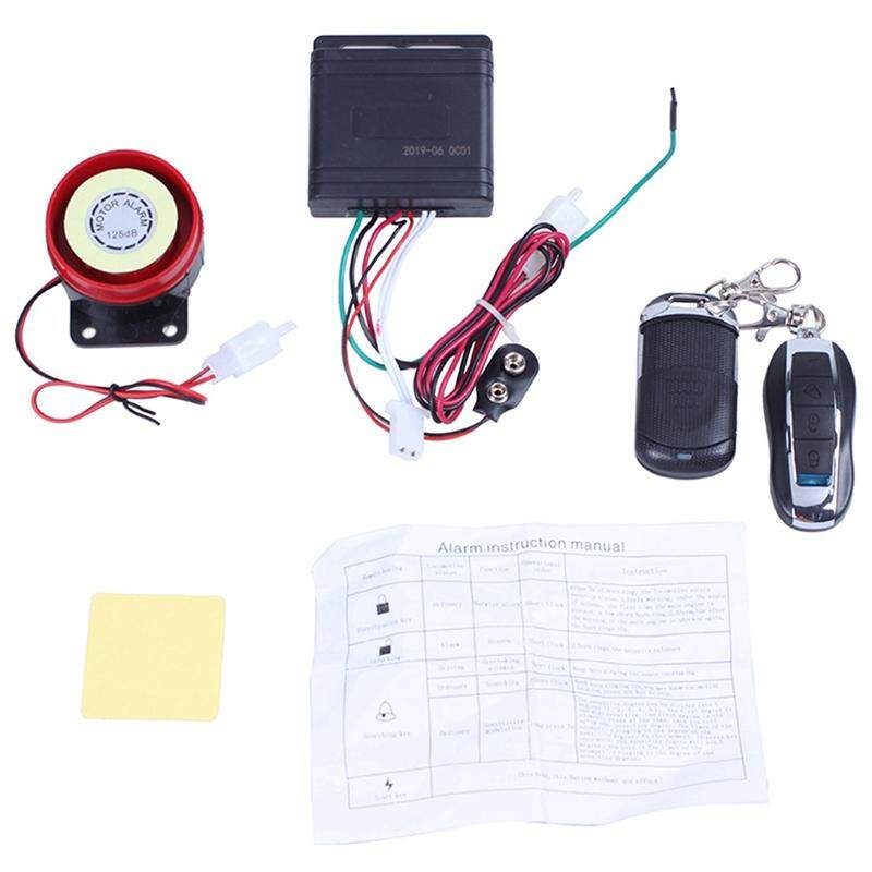 Anti-theft Security System With Remote Control 12V Motorcycle Security Alarm