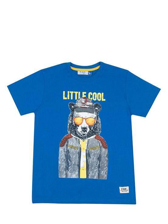 เสื้อยืดเด็กผู้ชาย สีฟ้า ไซส์ 6 ปี