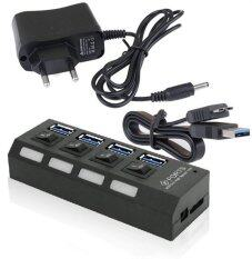 ขาย 4 Ports Hub Usb 3 Speed 5Gbps With Switch Ac Plug Compatible With Windows Mac Os Linux System Intl ผู้ค้าส่ง