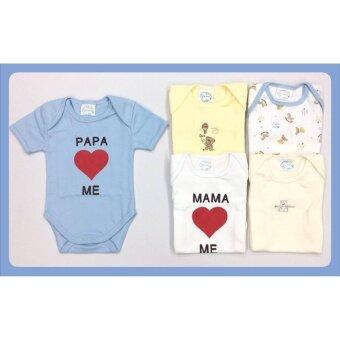ชุดเซ็ตเสื้อผ้าเด็กแรกเกิด ชุดบอดี้สูท ขนาด 0-3 เดือน 5 ชุด คละลายเด็กชาย (bodysuit boy set)