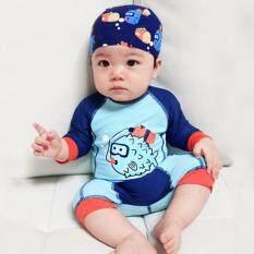 ส่วนลด ชุดว่ายน้ำเด็ก บอดี้สูท ลายปลาปั๊กเป้า พร้อมหมวกว่ายน้ำเข้าชุด 0705 Unbranded Generic ใน ไทย