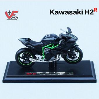 1:18 2016 Kawasaki H2R Motorcylce Diecast Maisto Model w/Removable Base - intl
