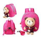 ขาย 1 3 Years Old Baby Keeper Toddler Walking Safety Harnesses Bear Backpack Strap Bag Pink เป็นต้นฉบับ