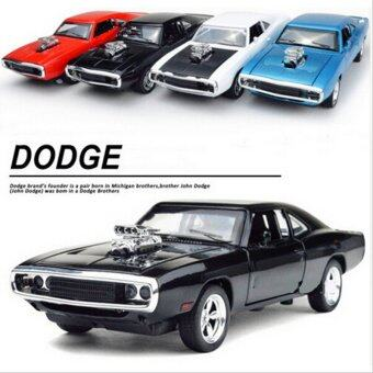 1:32 Scale Alloy Dodge Pull Back Toy Cars Diecast Model Kids Toys Gift Children's Toy Car (Black) - intl
