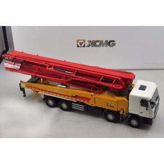 1:35 China Original XCMG HB56K Concrete 56m Pump Truck Benz Cement Pump Truck Yellow with Red Color - intl
