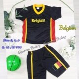 ราคา ราคาถูกที่สุด ชุดกีฬาเด็ก เสื้อ กางเกง 1 ชุด ปักลาย ทีม Belgium อายุ 6 ขวบ