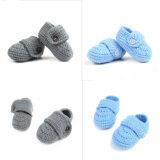 ขาย 1 Blue 1 Gray Sweet Boy Baby Infant Crib Crochet Handmade Casual Non Slip Knit Socks Shoes Intl ใน จีน