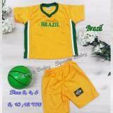ส่วนลด ชุดกีฬาเด็ก เสื้อ กางเกง 1 ชุด ปักลาย ทีม Brazil อายุ 10 ขวบ Midori กรุงเทพมหานคร