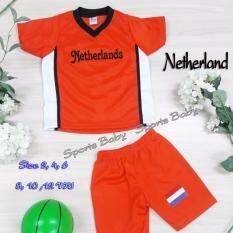 ราคา ชุดกีฬาเด็ก เสื้อ กางเกง 1 ชุด ปักลาย ทีม Netherlands อายุ 8 ขวบ กรุงเทพมหานคร