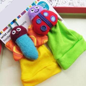 1 คู่เด็กทารกเด็กพัฒนาการสัตว์น่ารักกระดิ่งถุงเท้าเท้าเขย่าเบาๆ - นานาชาติ-