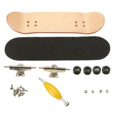 1 Pc Black Bearings Wheels Maple Wooden Fingerboard Sports Skateboard - Intl.