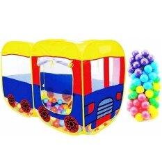 ขาย บ้านบอล เต้นท์รถบัส ลูกบอลหลากสี 100 ลูก Youngdex ผู้ค้าส่ง