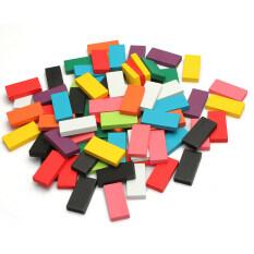 100ชิ้นไม้หลายสีมาตรฐานโดมิโนตีลังกาเล่นแท้ๆ By Channy.