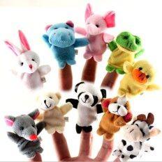 10ชิ้นเสื้อผ้าตุ๊กตาหุ่นมือครอบครัวศึกษาเด็กเล่นจับสัตว์-.