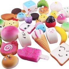 ของเล่นสกุชชีนุ่นนิ่มรูปเค้ก ขนมปัง โดนัท คละแบบ 10 ชิ้น By Coromose.