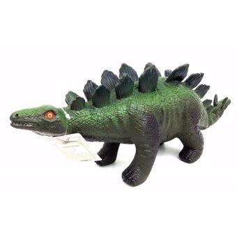 ของเล่น ไดโนเสาร์ ตัวนิ่ม บีบได้ (กดปุ่มใต้ท้องจะมีเสียง) ขนาด กว้าง11 สูง12 ยาว40 Cm.