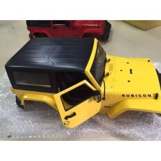 ราคา 1 10 Rc Model Plastic Modified Body Shell Land Rover Wrangler Crawler Car Yellow Intl M A K จีน