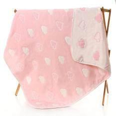 ขาย ผ้าห่มเด็ก เนื้อผ้าฝ้ายญี่ปุ่น ลายเมฆขาว สีชมพู ขนาด 110X110 ซม ออนไลน์ กรุงเทพมหานคร