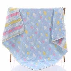 ขาย ซื้อ ผ้าห่มเด็ก เนื้อผ้าฝ้ายญี่ปุ่น ขนาด 110X110 ซม สีฟ้า ใน สมุทรปราการ