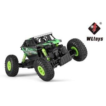 รถบังคับวิทยุวิบาก รถบังคับไฟฟ้า รถไต่หิน ออฟโรดลุยดินโคลน ขนาด 1:18 Rock Crawler 4WD 2.4ghz (สีเขียว)
