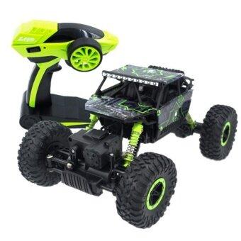 รถบังคับวิทยุวิบาก รถบังคับไฟฟ้า รถไต่หิน บังคับสุดแรงสุดมัน ขนาด 1:18 Rock Crawler 4WD 2.4ghz (สีเขียว)