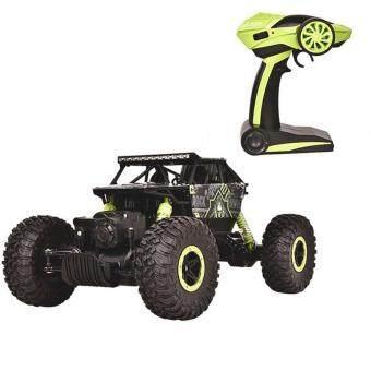 รถบังคับวิทยุ รถบังคับไฟฟ้า รถไต่หิน แข็งแรงทนทาน ขนาด 1:18 Rock Crawler 4WD 2.4ghz (Green)