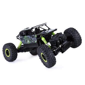 รถบังคับวิทยุ รถบังคับไฟฟ้า รถไต่หิน ออฟโรดลุยโคลน ขนาด 1:18 Rock Crawler 4WD 2.4ghz (Green)